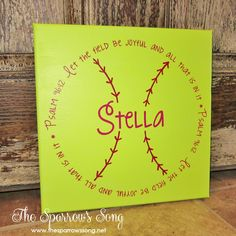 1000  images about Softball Crafts on Pinterest | Yellow roses ...