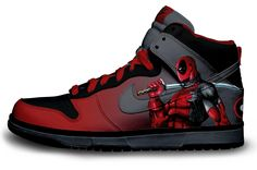 Check a look at these dope Deadpool custom Nike sneakers courtesy of Brass Monki. Nike Shoes Cheap, Nike Free Shoes, Nike Shoes Outlet, Cheap Nike, Dr Shoes, Hype Shoes, Me Too Shoes, Nike Air Jordan, Nike Air Max