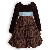 Mocha Tiers - Girls Special Occasion Dresses Sale, Boys Special Occasion Clothing Sale