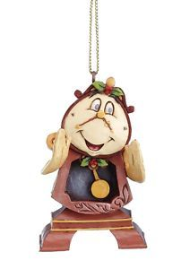 *COGSWORTH ~ New+Disney+Ornaments | Disney Traditions Cogsworth Hanging Tree Ornament NEW 12235 | eBay