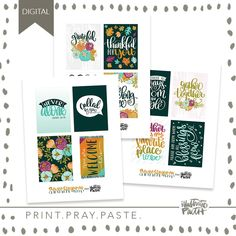 Room At His Table Journal Card Set - Illustrated Faith Faith Bible, Illustrated Faith, Ephemera, Pray, Illustration, Projects, Cards, Fun, Room Set