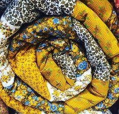 Edredon amarelo Patchwork