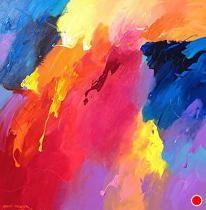 Midnight Sun 2 by David Kessler Acrylic ~ 48 x 48