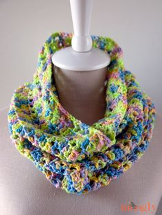 Splash of Spring Cowl: free one skein #crochet pattern! ♥