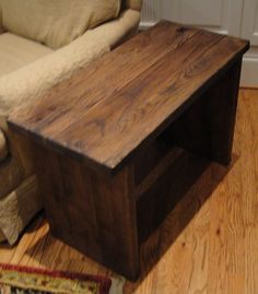 31 Inch Table or Bench Made From Reclaimed Oak