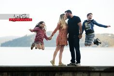 Say hello to Lynze, Dan, Monroe and Kyler who spent the afternoon venturing around downtown Coeur d'Alene with me yesterday. Lynze and Dan, who are getting married in August, decided to have a family portrait session to see how the kids would do with the experience. Let's just say it's going to be a fun wedding day hanging with this crew. #portrait #family #engagement #idaho #coeurdalene #kiss #jump #children #kids #parents #blackandwhite