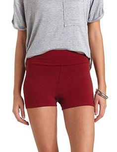 High-Waisted Bike Shorts #CharlotteRusse #CRfashionista #shorts