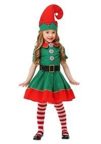 53189151878 Christmas Santa Elf Costume for Kids Girl Elf Costume