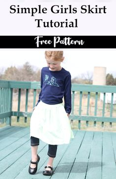 Simple and fast girls skirt sewing pattern and tutorial.  Perfect for any season and easy to customize.