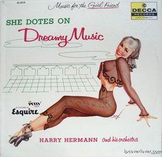 She Dotes on Dreamy Music  33 rpm, Mono 1957  Vinyl LP Decca [USA] / DL 8310. Nice artwork. Lp Cover, Vinyl Cover, Cover Art, Easy Listening, Vinyl Cd, Vinyl Records, Music Covers, Album Covers, Le Kraken
