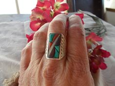 Mens Native American Sterling Silver by periwinkleantiques on Etsy, $85.00