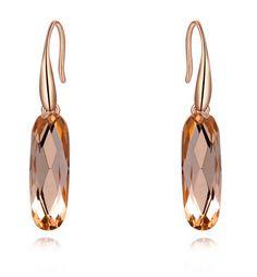 India Pink Translucent Oval Crystal Drop Earrings - Pearl + Creek  #earrings #pearlandcreek #accessories #jewelry #jewellery #bijoux #weakwearinspo #fashionearrings #modernearrings