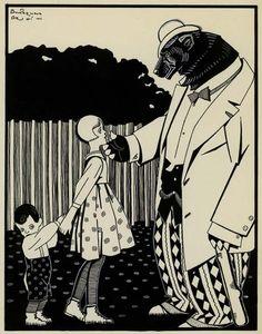 Pedro Antequera Azpiri - illustration from Fente Menuda, 1928