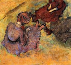 Woman Seated on the Grass / Edgar Degas - 1882