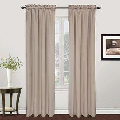 United Curtain Co. Metro Curtains, Beig/Green (Beig/Khaki)