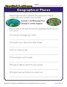 Periods and Capitalization Worksheet | Activities, Free printable ...