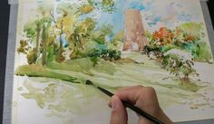 Urban sketcher Marc Taro Holmes shares a step-by-step demonstration on urban sketching with watercolor.