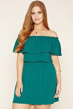 Plus Size Crinkled Gauze Dress