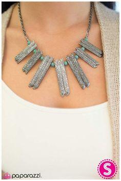 Mrs Flintstone - blue necklace