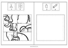 tierpuzzles tiere ausschneiden kleben ausmalen feinmotorik legasthenie dyskalkulie. Black Bedroom Furniture Sets. Home Design Ideas
