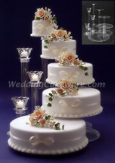 5 Tier Cascading Wedding Cake Stand Stands 3 Tier Candle Stand In