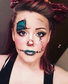 Scarecrow Halloween makeup