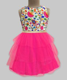 Fuchsia Floral Tiered Amelia Dress - Infant, Toddler & Girls