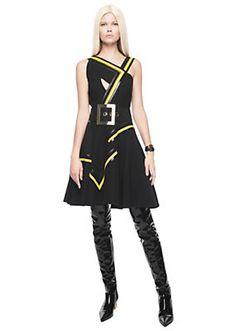 Versace - Graphic zig-zag dress