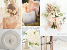 Two peach and green wedding inspiration boards with loads of romantic wedding details. Wedding Color Schemes, Wedding Colors, Wedding Flowers, Wedding Themes, Wedding Styles, Wedding Ideas, Green Wedding, Our Wedding, Peach And Green