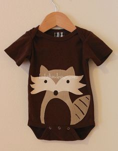 fox trot by BabyLuxDesigns, via Flickr - this chick doodles a design then appliques them onto a onesie. So cute!