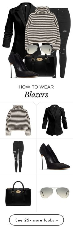 """""""Untitled #2269"""" by dceee on Polyvore featuring Topshop, Mulberry, Casadei and Ray-Ban"""