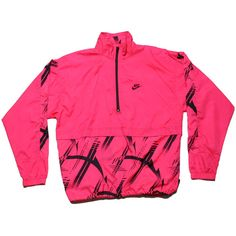 Tried & True Co. — VINTAGE NIKE PULLOVER WINDBREAKER ($45) ❤ liked on Polyvore featuring activewear, activewear jackets, jackets, tops, nike, shirts, pink pullover, vintage shirts, sweater pullover and nike activewear