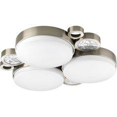 Progress Lighting P3747-0930k9 Bingo 3-light LED Flush Mount Cluster with AC LED Module (Brushed Nickel), Grey (Metal)