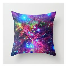 Astral Nebula Throw Pillow ($20) ❤ liked on Polyvore featuring home, home decor, throw pillows and abstract throw pillows