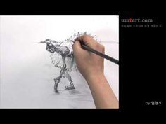 How to draw the ballerina by Um KyuongHo 빌레리나 그리기 - YouTube