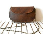 vintage brown leather purse- I need something light like this for mall shopping.  My purses are so heavy!