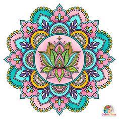 Mandala Art Lesson, Mandala Doodle, Mandala Artwork, Mandala Drawing, Mandala Painting, Coloring Apps, Coloring Books, Coloring Pages For Grown Ups, Tile Murals