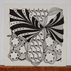 """Tickled To Tangle: """"It's a String Thing"""" #38 Tiles"""
