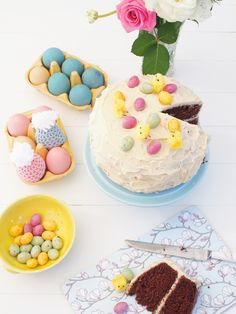 Easter pastels with our Magnolia Blue serving board.  Photo and styling by MessyLa.com