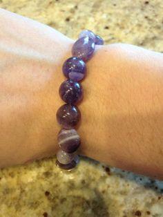 Amethyst Stone Bracelet. All Natural. Reiki Infused