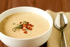 Cheddar & Ale Soup with Potato & Bacon