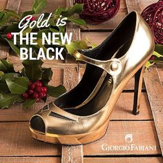 Gold is the new black! #gold #fashion #shoes #befab #glamour #glamstyle #fashiongram #style #golden #shop