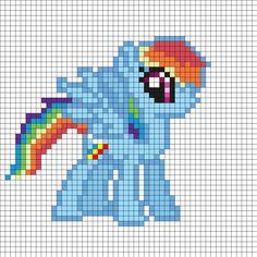 MLP Rainbow Dash Perler Bead Pattern