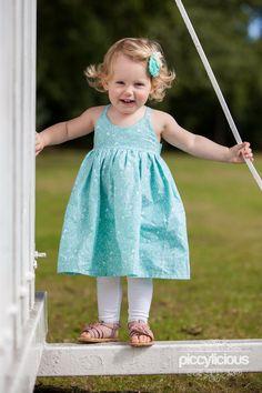 Eloise in her pretty blue dress.