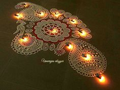 We have been working hard to bring to you the latest Rangoli Designs on our website. We believe a Rangoli is only as awesome as much as it. Rangoli Designs Peacock, Colorful Rangoli Designs, Beautiful Rangoli Designs, Diwali Designs, Diwali Decorations At Home, Latest Rangoli, Padi Kolam, Morning Ritual, Simple Rangoli