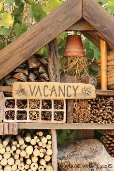 Insect Hotel built from reclaimed wood
