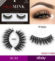 de59a33365e SKONHED Fashion 1Pairs 3D Faux Fake Mink Lashes Soft Long Strips False  Eyelashes