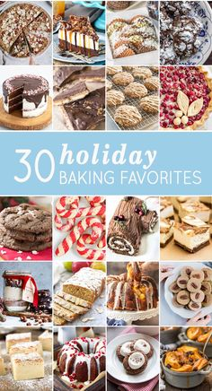 30 Holiday Baking Favorites - The Cookie Rookie Holiday Cookies, Holiday Baking, Christmas Desserts, Holiday Treats, Christmas Recipes, Holiday Recipes, Christmas Snacks, Xmas Food, Christmas Cooking