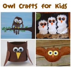 If your kids love owls, crafts and recipes, check out these Owl Crafts & Recipes from FunFamilyCrafts.com