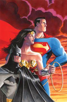 #Trinity #Fan #Art. (BATMAN/SUPERMAN/WONDER WOMAN: TRINITY) By: Matt Wagner. (THE * 5 * STÅR * ÅWARD * OF: * AW YEAH, IT'S MAJOR ÅWESOMENESS!!!™) ÅÅÅ+
